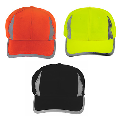 Hi-Vis Lime Reflective Hat Baseball Cap Safety New Lime Orange Jorestech
