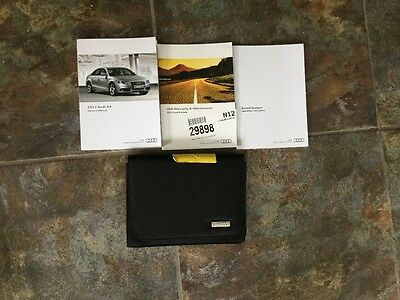 12 2012 Audi A4 owners manual