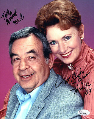 """(SSG) TOM BOSLEY & MARION ROSS Signed 8X10 """"Happy Days"""" Photo with a JSA COA"""