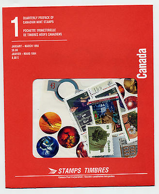 Weeda Canada 1994 January-March Quarterly Pack, sealed! Face value $8.08