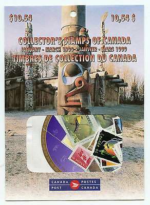 Weeda Canada 1999 January-March Quarterly Pack, sealed! Face value $10.54