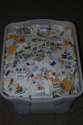Weeda Random pound mix/kiloware lots, 1 lb of Canadian mixture on and off paper