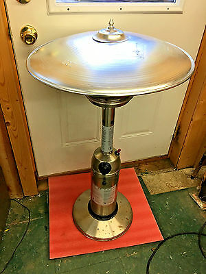 BS7 stainless steel patio heater propane operated manual or electric start