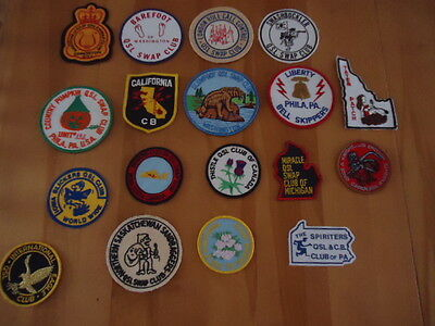"""QSL ARM Patch, CB Club"""" LOT OF 18 PATCHES"""