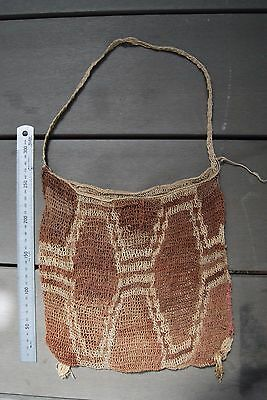 Very old & well used Papua New Guinea bilum bag