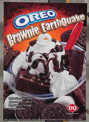 Dairy Queen Promotional Poster Oreo Brownie Earthquake dq2