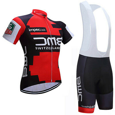 2017 Cycling Team Kit Short Sleeve Bicycle Bike Jersey Padded Bib Shorts Set BMC