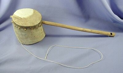 Vintage Primitive Umuduli Animal Skin & Wood Drum African Musical Instrument