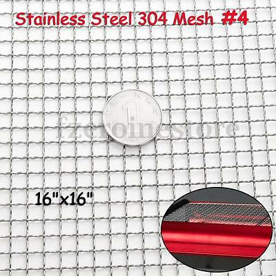 Stainless Steel Woven Wire 4 Mesh Filter Sheet Cloth Screen 40x40cm