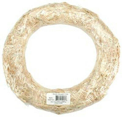 Natural - Straw Wreath 16""