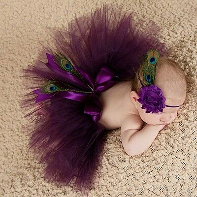 New Baby Infant Newborn Girls tutu Skirt Hairband Photo Photography Prop Outfits
