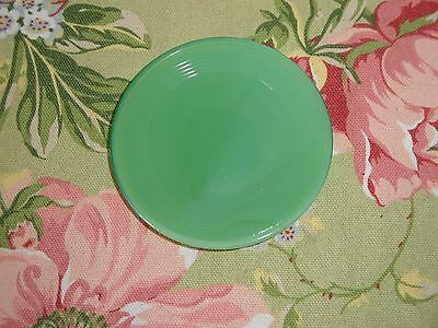 Vtg Akro Agate Girl Stacked Disc Green Saucer Child Tea Toy Jadeite Plate Glass