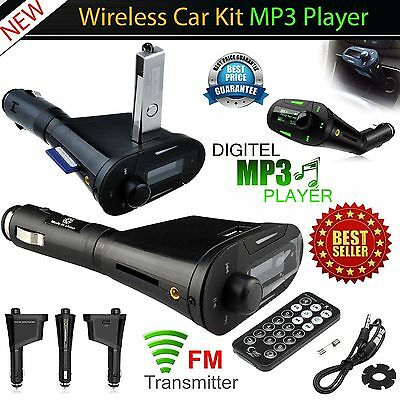 Wireless Car FM Transmitter USB SD Card Slot Kit Audio MP3 Player Radio + Remote