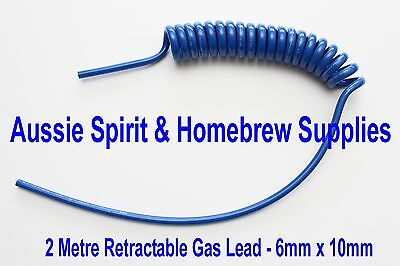Brand New Re Coil Hose Home Brew Beer Gas Line 6.5mm X 10mm X 2 metres
