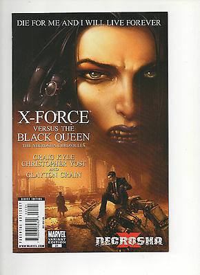 X-FORCE #21 (2010) INTERVIEW WITH A VAMPIRE Homage Clayton Crain VARIANT VF/NM