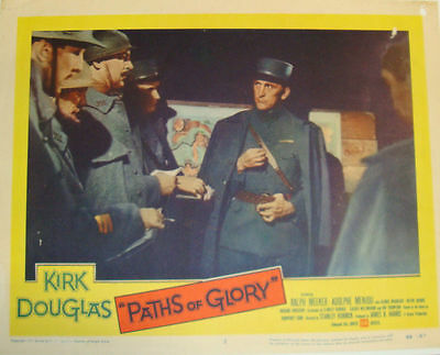 PATHS OF GLORY (1957) KIRK DOUGLAS Lobby Card STANLEY KUBRICK