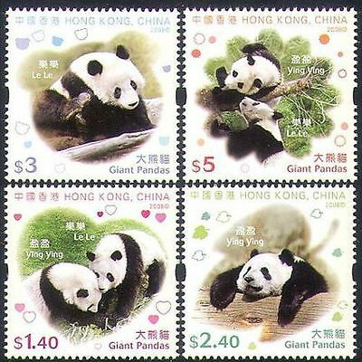 Hong Kong 2008 Giant Panda set of 4 MNH