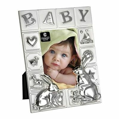 Cupecoy Design Baby Boy or Girl ABC Two Tone Frame (Holds 4 x 6 Photo) 70059