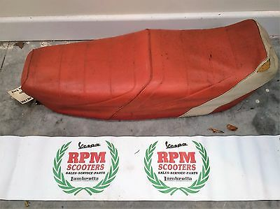 Vespa PK Red and White Seat