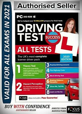 Driving Theory Test & Hazard Test - CAR. PC DVD CD ROM - NEW 2019 Test atp