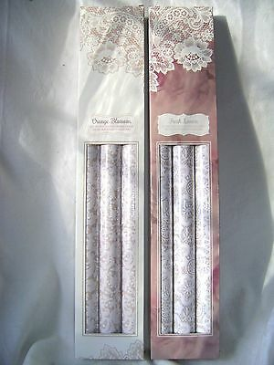 New 6 Scented Drawer Liners Lace Pattern Orange Blossom Linen Lx0011 Sil 2 Boxes