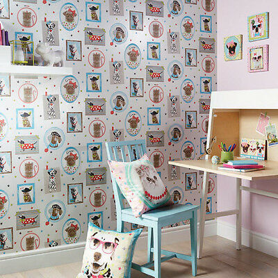 Hall Of Fame Picture Frame Pattern Animal Cat Dog Glitter Wallpaper 668400