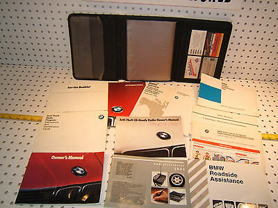 BMW 91 325i/C E30 owner's manual 1 set of 14 Booklet/ Paper & BMW Leather 1 Case