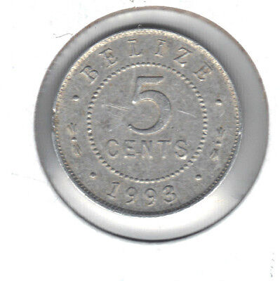 Belize 1993 5 Cent Coin