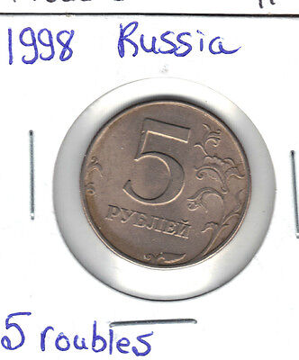 Russian Federation 1998 5  Rouble  Au Coin