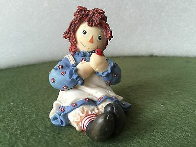 "Vintage Enseco Raggedy Ann Figurine #677760 ""Spend Life in Kindness, Making..."""