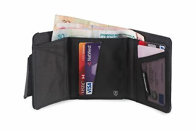 Lifeventure Fully RFiD Protection Tri-Fold Wallet Grey 6 Card Slots Note Pocket