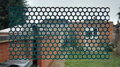 honey comb maze mesh self adhesive vinyl sticker different colors and sizes