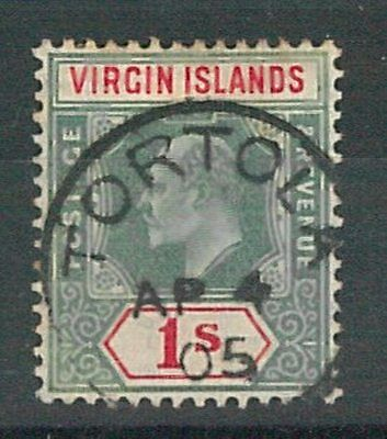 60756 -  VIRGIN ISLAND  - STAMPS:  SG # 60  Used from TORTOLA - VERY FINE!!