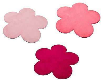 New Childrens Kids Bedroom Playroom Nursery Flower Shape Carpet Rug Mat