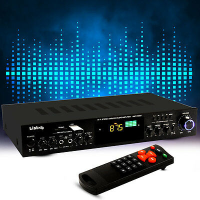 275 Watt FM Tuner Party Karaoke Verstärker MP3 Amplifier Musik Bluetooth schwarz