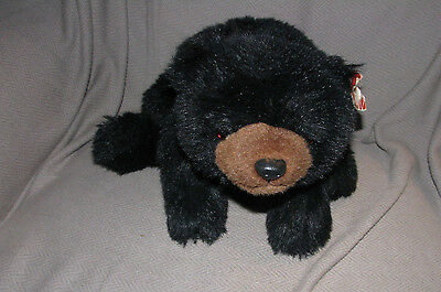 "Ty Classic Plush 18"" Black Bear Shadow Floppy Stuffed Animal Bean 1992 NEW"