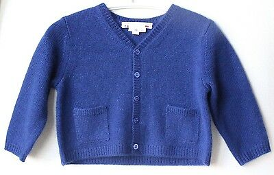 Bonpoint Baby Blue Cashmere Cardigan 18 Months
