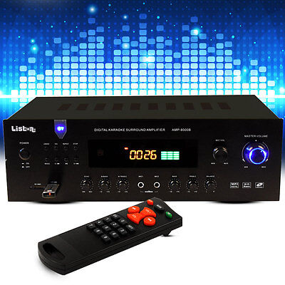 HiFi FM Tuner Party Karaoke Musik Verstärker MP3 Amplifier Bluetooth Anlage Bass