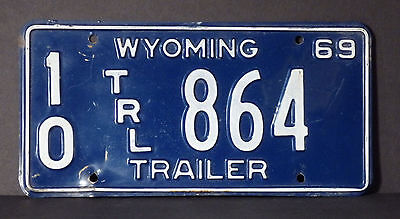 1969 Wyoming Trailer License Plate #10 864