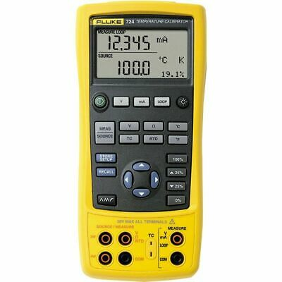 Fluke 724 Temperature Calibrator. Measures RTDs, Thermocouples, Ohms & Volts