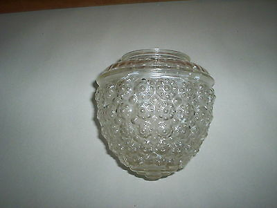 "Vintage (5 1/2"" Tall by 3 1/4"") Glass Globe Light Fixture Shade With Designs"