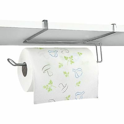 Under Cupboard Unit Shelf Kitchen Paper Towel Roll Holder Hanger Storage Rack