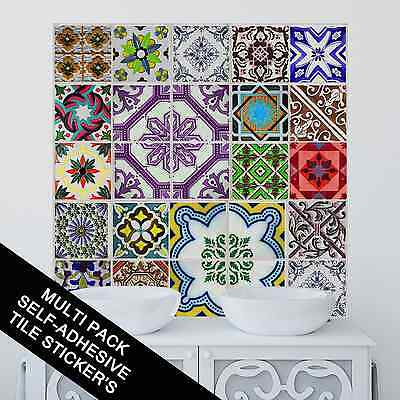 Kitchen Bathroom Tile Sticker Decal Transfers Traditional Style Multi Pack TP53