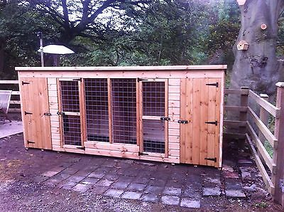 Double Kennel Block 2 Dog Kennels And Runs