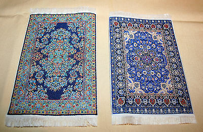 Barbie or 12 inch Doll  Set of 3 Oriental or Turkish Cloth Area Rugs 5 x 4 inch
