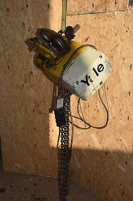 YALE KEL1/2-10L15S1 1/2 TON 1000 lb 230V 460V 3PH Electric CHAIN HOIST W TROLLEY