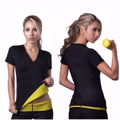 Hot Sauna T-Shirt Neoprene Slimming Top Shaper Burn Fat Calorie Loose Weight