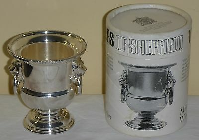 Vintage Silver Plated Viners Of Sheffield Miniature Wine Cooler In Original Box