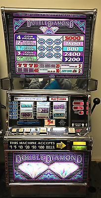 "Igt S2000 Coinless Slot Machine ""double Diamond 5 Line""  1 Year Warranty"
