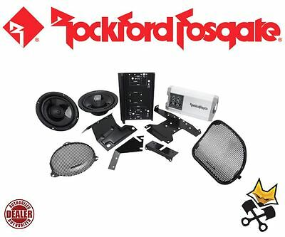 Rockford Fosgate Front Audio Speaker & Amp Kit Harley 2014-Up Flt Flhx Hd14-Tkit